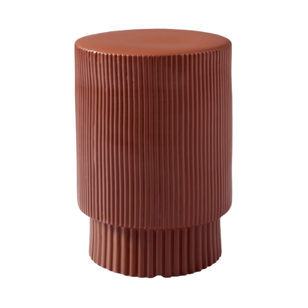 Textured Terracotta Side Table