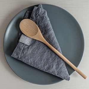 Washed Dark Grey Linen Napkins