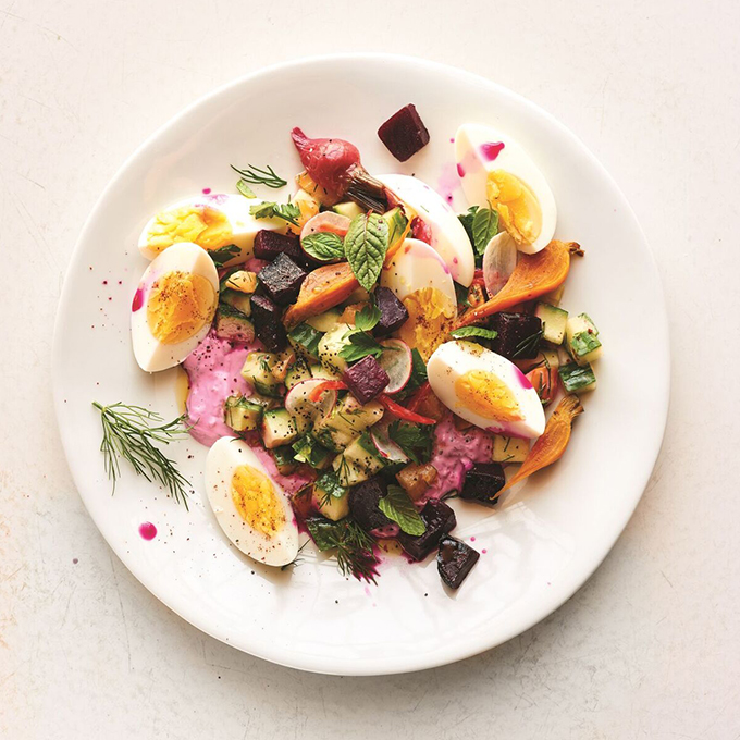 Roasted Beet Tzatziki Salad