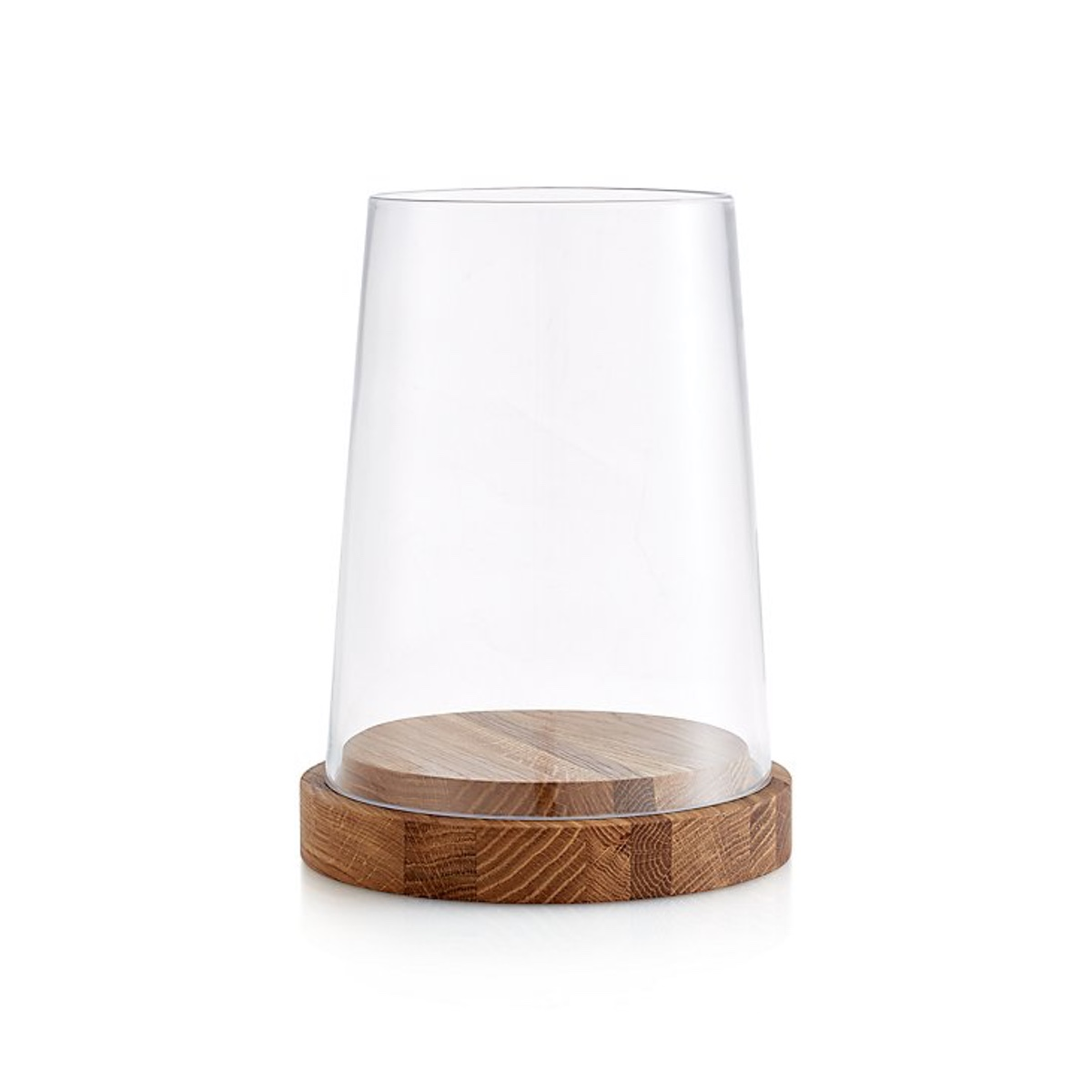 Crate & Barrel Oak Candle Holders