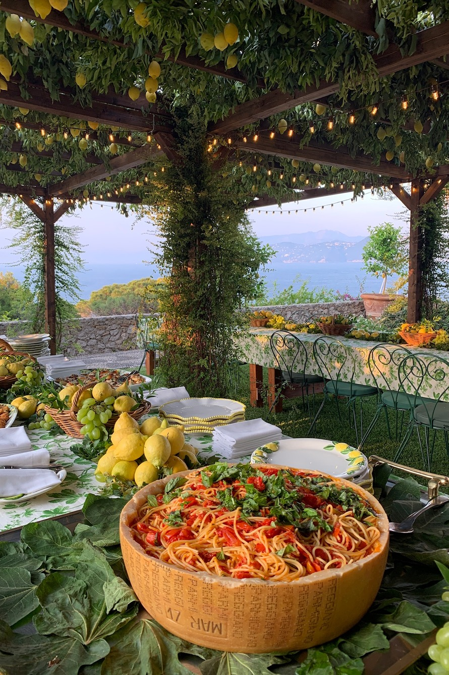 Spaghetti in a large bowl in Capri Italy. Picture courtesy of Eyeswoon