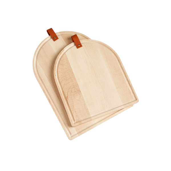 Tomos Maple Cutting Boards with Leather Straps