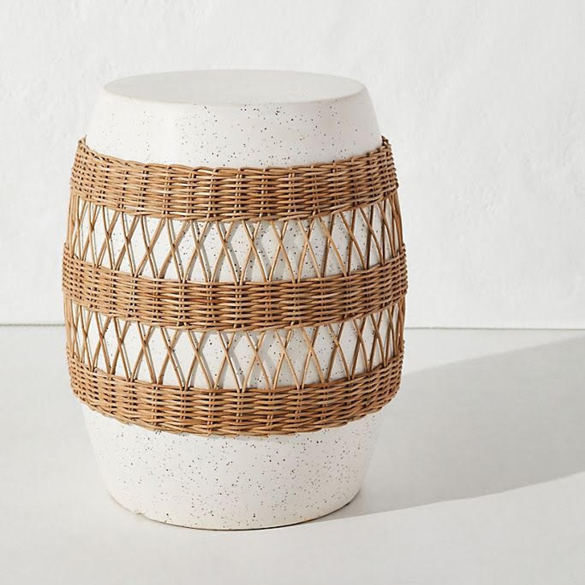 Anthropologie Rattan-Wrapped Stool