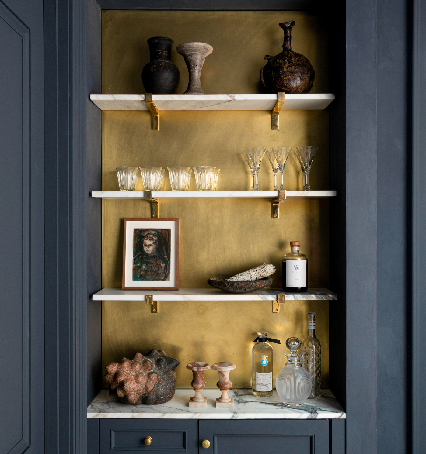 Room Swoon: The Bar Shelves in My Brooklyn Family Room