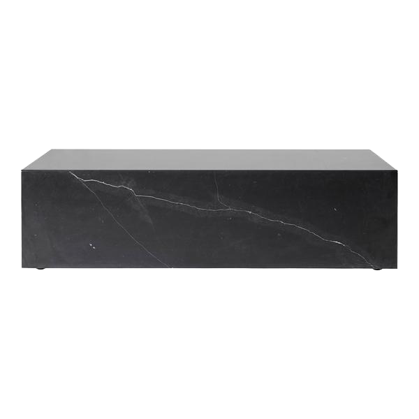 Menu Black Marble Low Plinth Table