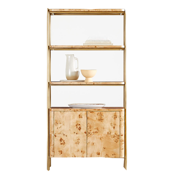 Crate & Barrel Mota Closed Wood Bookcase