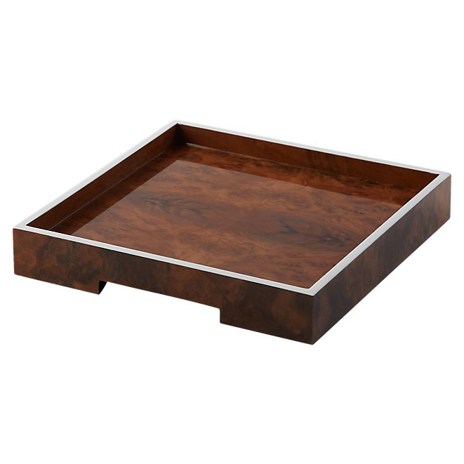 CB2 Burl Wood Tray