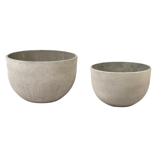 Round Cement Planter Set of Two