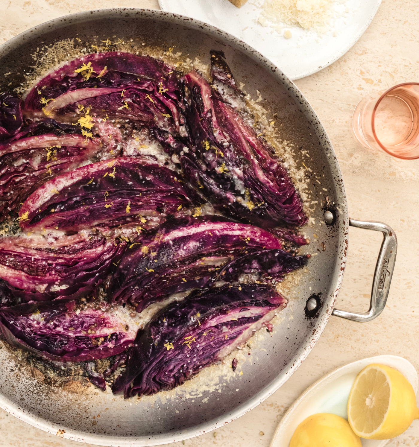 Coriander and Fennel Lemony Cabbage