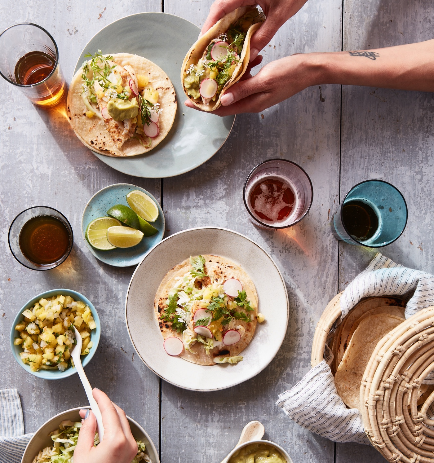 Cinco de Mayo | Fish Tacos with Pickled Cabbage & Pineapple Salsa