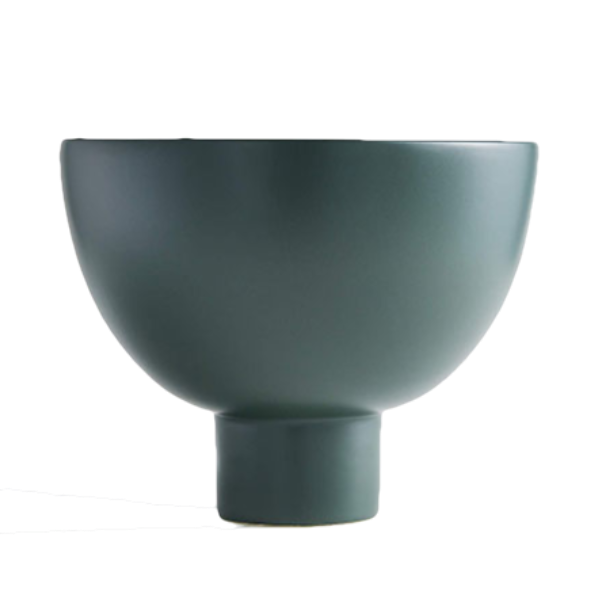 Crate & Barrel Dark Green Ingrid Bowl