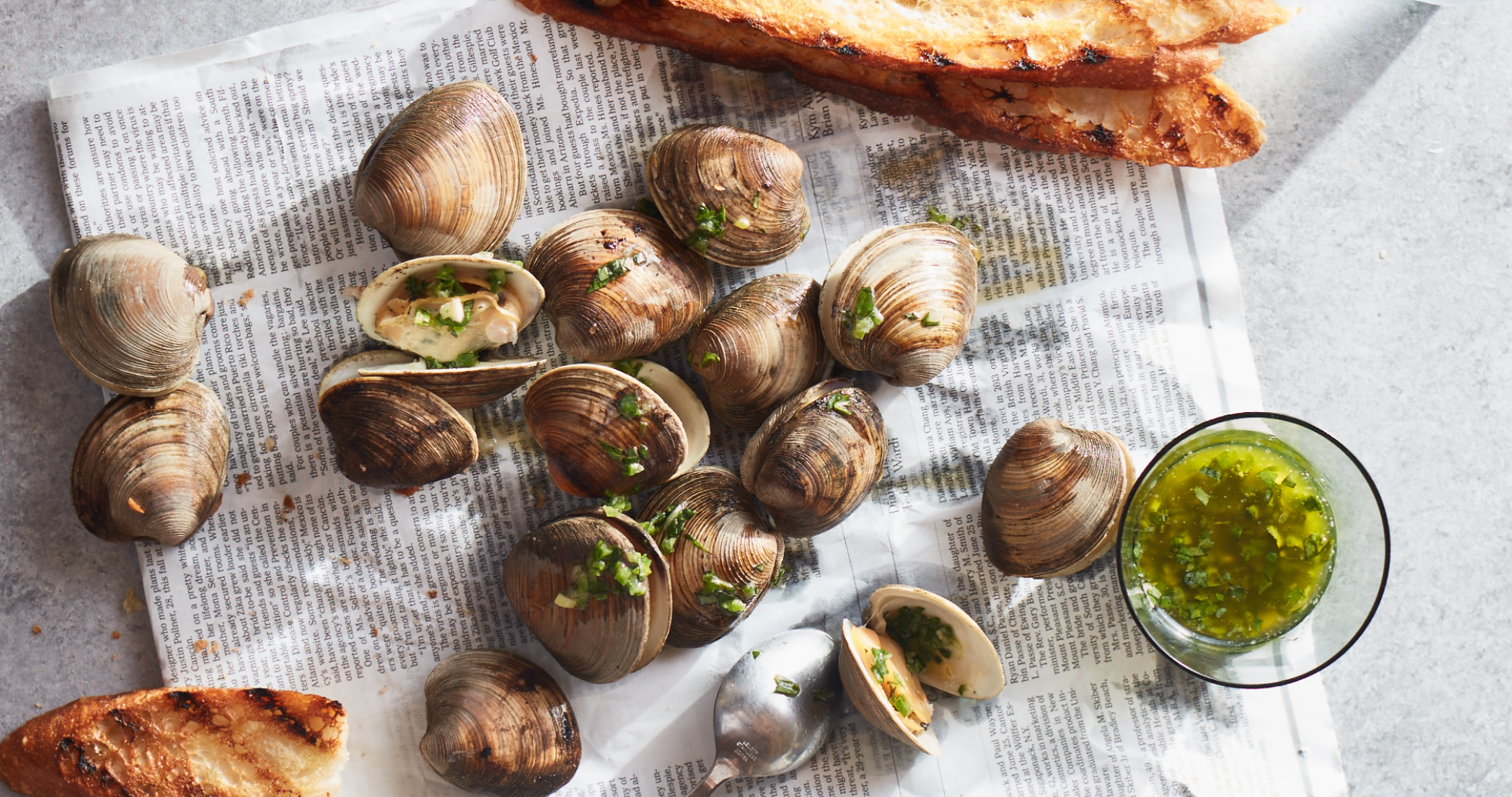 Grilled Clams with Jalapeno-Herb Butter