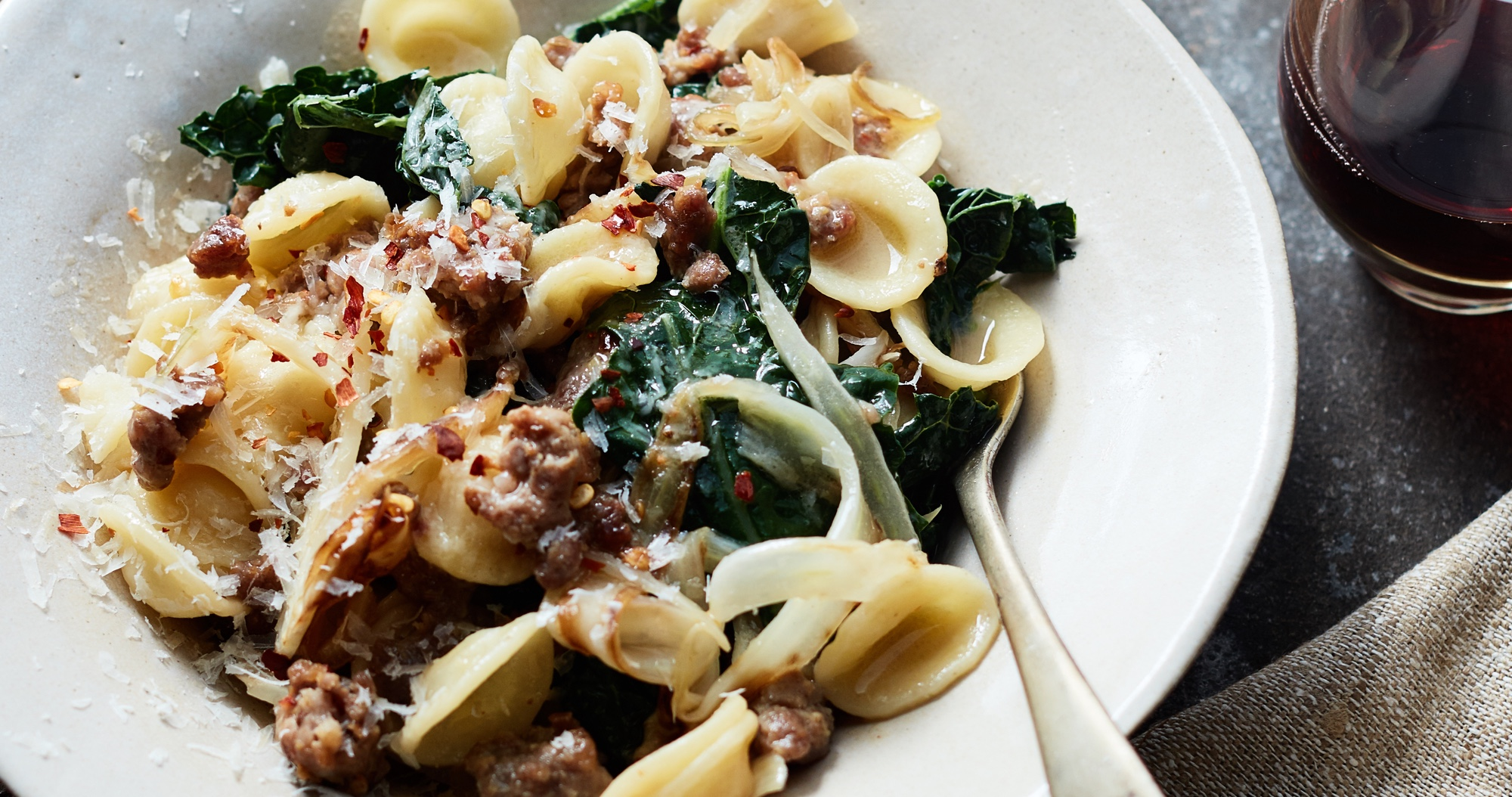 Orecchiette with Kale, Fennel, and Sausage