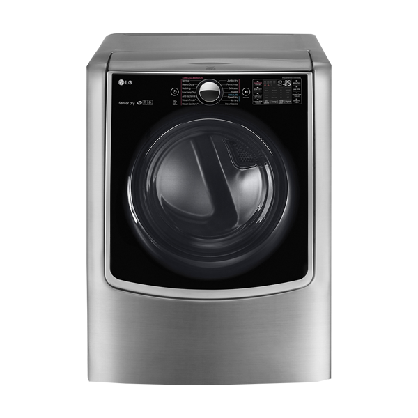 LG 9.0 Cu. Ft. Smart Gas Dryer with Steam and Sensor Dry in Graphite Steel