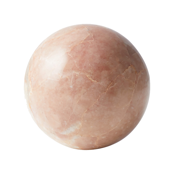 CB2 Pink Marble Sphere