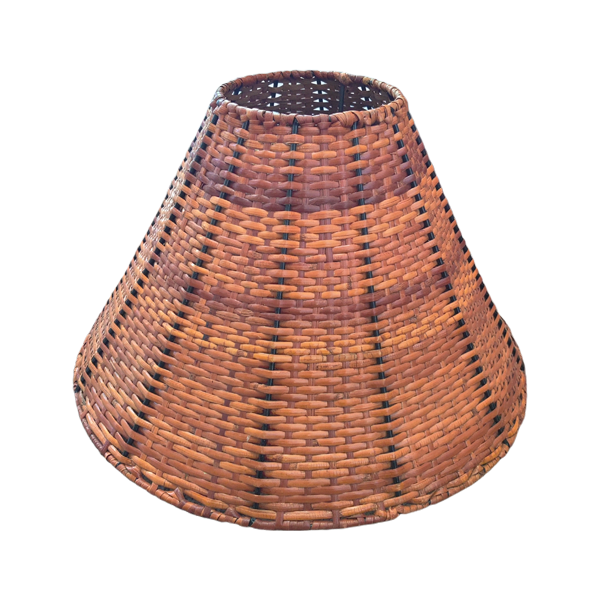 Vintage 1970s Rattan Lamp Shade