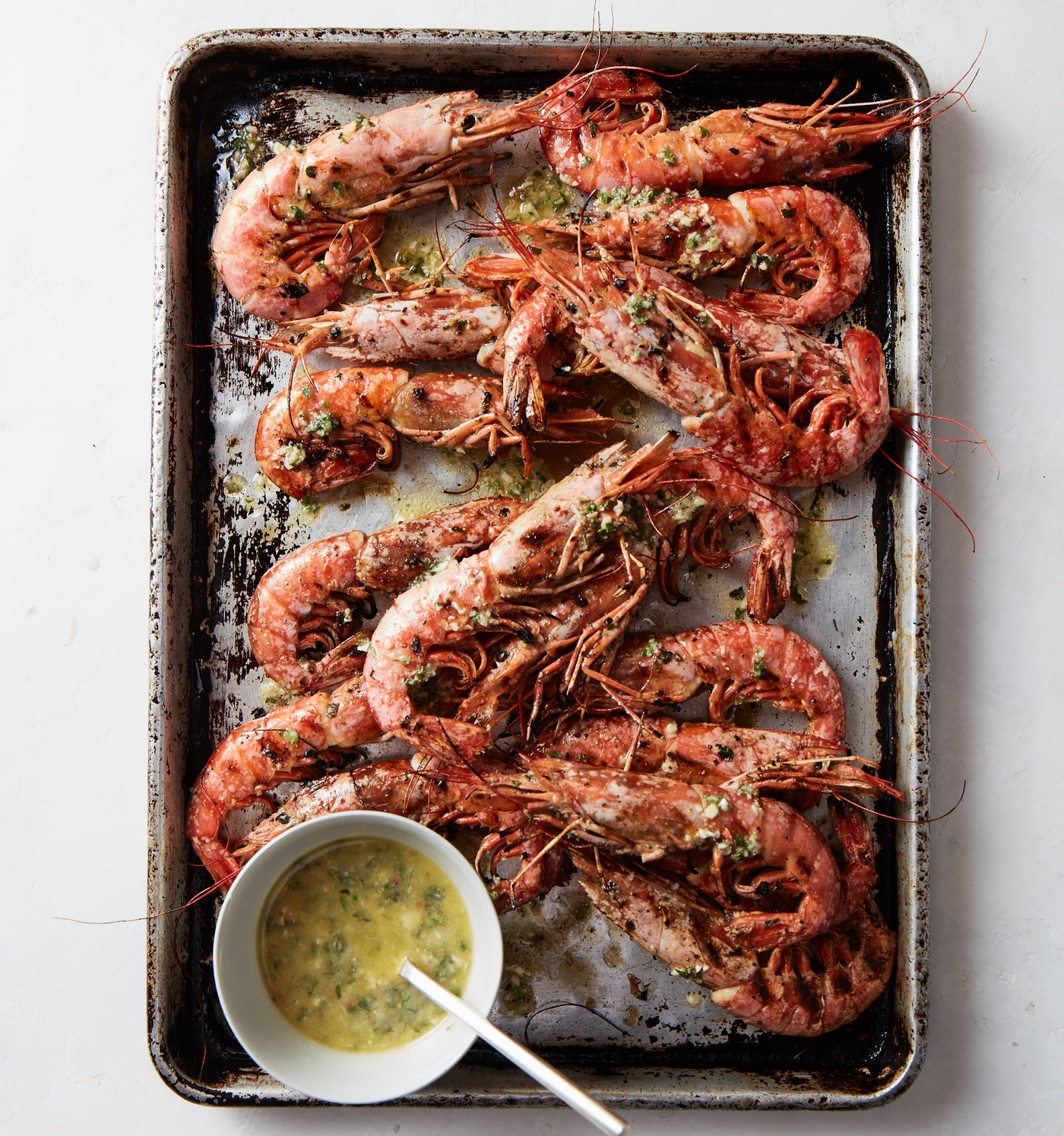 Grilled Shrimp With Chili, Lemon, And Oregano