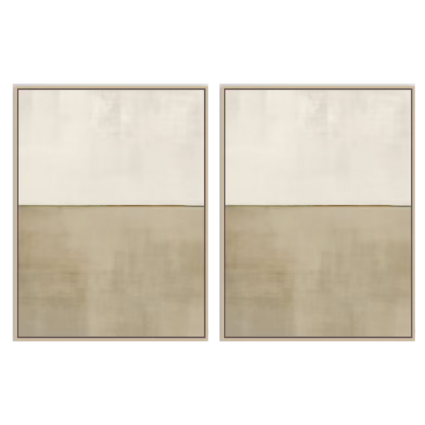 Set of Two Neutral Abstract Paintings