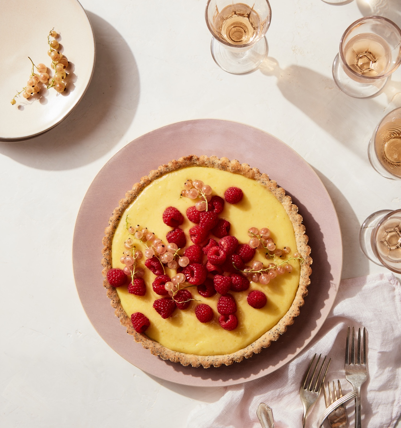 Lime-Raspberry Tart